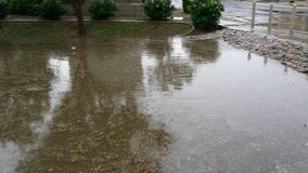 Monsoon Rains Inundate Phoenix streets, AZ Royalty Free Stock Images
