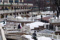 Dull season in the Alexander garden of Moscow Kremlin Stock Photo