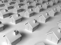 Dull suburban concept. 3d render Stock Photo