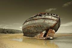Dullas Podpalany shipwreck Zdjęcie Stock