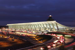 Dulles. Washington's Dulles airport at dusk Royalty Free Stock Photography