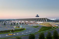 Dulles airport at dawn near Washington DC Royalty Free Stock Photo