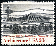 Dulles Airport US Postage Stamp Royalty Free Stock Photography