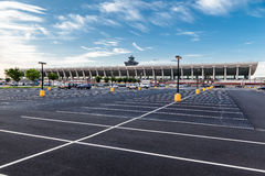 Dulles International Airport Washington. The parking lot and the facade of Dulles International Airport in Washington, DC Stock Photography