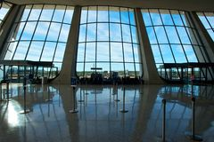 Dulles Internationale Luchthaven stock foto