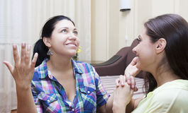 Dult girlfriends communicate Royalty Free Stock Image