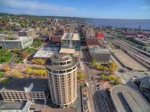 Duluth är en populär turist- destination i övreMidwesten på arkivbilder
