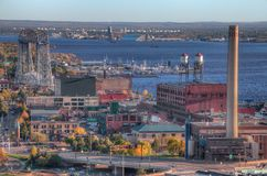 Duluth är en populär turist- destination i övreMidwesten på fotografering för bildbyråer