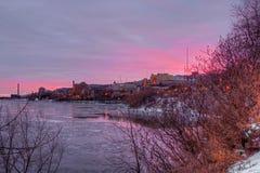 Duluth är en populär turist- destination i nordliga Minnesota på kusterna av Lake Superior royaltyfria foton