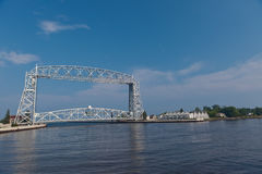 Duluth Aerial Lift Bridge. A photo of the aerial lift bridge in Duluth, Minnesota Stock Photos