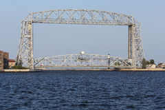 Duluth Aerial Lift Bridge. A lift bridge at the entrance of Duluth harbor Stock Photos