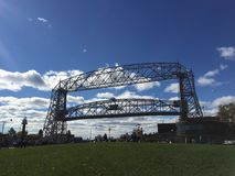 Duluth aerial lift bridge. Bridge near canal park in Duluth Minnesota stock photos