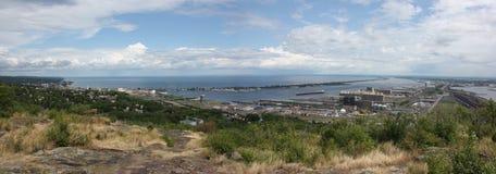 Duluth e porto superior fotografia de stock