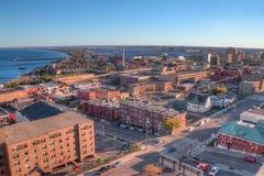 Duluth está um destino popular do turista no Midwest superior ligada Imagens de Stock