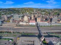 Duluth está um destino popular do turista no Midwest superior ligada Imagens de Stock Royalty Free