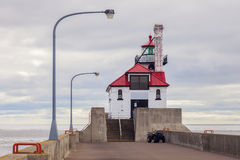 Duluth Harbor South Breakwater Outer Lighthouse. Duluth, Minnesota, USA Stock Images
