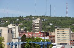 Duluth Hills Minnesota. Duluth Hills in Minnesota State, USA. Duluth Architecture Royalty Free Stock Images