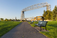 Duluth Lift Bridge with Park Royalty Free Stock Photo