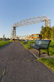 Duluth Lift Bridge with Park Stock Images