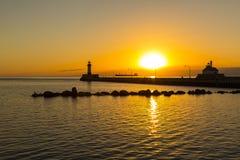 Duluth Lighthouses Sunrise Royalty Free Stock Image