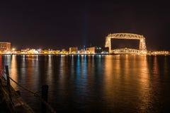 Duluth linia horyzontu przy nocą Obraz Royalty Free