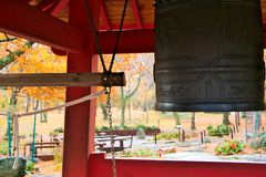 Duluth, MN - October 26, 2018 : World Peace bell from Ohara, Japan royalty free stock photos
