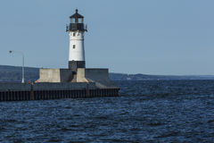 Duluth N Pier Lighthouse Royalty Free Stock Image
