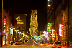 Duluth Nightlife Royalty Free Stock Images