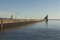 Duluth Pier Lighthouses imagem de stock royalty free