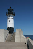 Duluth Pierhead Lighthouse. Duluth North Pierhead Lighthouse in Minnesota Royalty Free Stock Photo