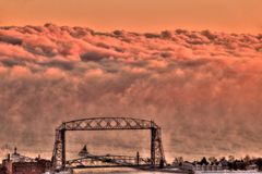Duluth is a popular Tourist Destination in Northern Minnesota on the Shores of Lake Superior.  stock photo