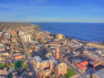 Duluth is a popular Tourist Destination in the Upper Midwest on. The Minnesota Shores of Lake Superior Stock Photos