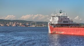 Duluth is a popular Tourist Destination in the Upper Midwest on. The Minnesota Shores of Lake Superior Royalty Free Stock Image