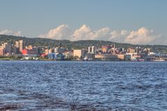 Duluth is a popular Tourist Destination in the Upper Midwest on. The Minnesota Shores of Lake Superior Stock Photo