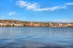 Duluth is a popular Tourist Destination in the Upper Midwest on. The Shores of Lake Superior in Far North Minnesota stock photos