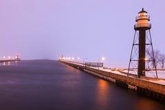 Duluth schronienia Południowego falochronu Wewnętrzna latarnia morska Zdjęcie Royalty Free