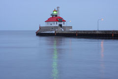Duluth South Pier Lighthouse. On Lake Superior in Minnesota stock image