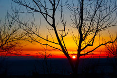 Duluth Sunrise. A vibrant sunrise in Duluth, MN Stock Photo