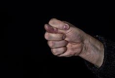 Dulya con la mano sporca - gesto maleducato Fotografia Stock
