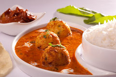 Dum Aloo- Spicy Indian Potato Curry Stock Photo