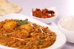 Dum Aloo- Spicy Indian Potato Curry Stock Images