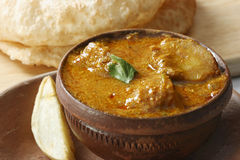 Dum de Alu - Alu Dum é caril picante da batata de Bengal Imagem de Stock Royalty Free