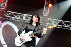 Dum Dum Girls (American rock band from Los Angeles) in concert Stock Photography