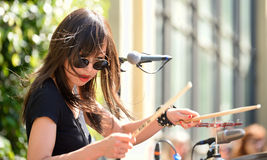 Dum Dum Girls (American rock band from Los Angeles) in concert Royalty Free Stock Photo
