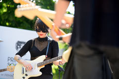 Dum Dum Girls (American rock band from Los Angeles) in concert at Heineken Primavera Sound 2014 Festival (PS14) Royalty Free Stock Photo