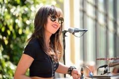 Dum Dum Girls (rock band from Los Angeles) in concert at Heineken Primavera Sound 2014 Festival Stock Photography