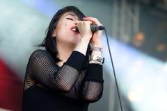 Dum Dum Girls (women rock band) in concert at Heineken Primavera Sound 2014 Festival Royalty Free Stock Images