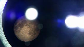 Dum måne i illuminationsenhet Arkivbild