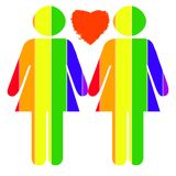 duma lesbijką Obraz Royalty Free