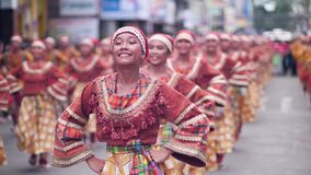 Free Dumaguete City, Philippines 10-18-2019: Festival Dancers With Beautiful Smiles. Stock Images - 170427204